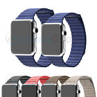 Genuine Leder Loop Armband Uhrenarmband Magnetic Buckle Für Apple Watch 38/42mm