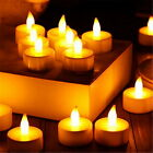 Flameless Flickering LED Tealight Battery Operated Candle Amber Light UK