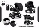 Twin Pram 3in1 Pushchair Double Buggy Twins +Car seats + 21COLOURS <br/> FREE DELIVERY &amp; RETURNS, FREEBIES