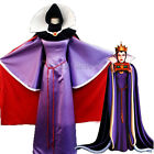Adult Snow White Evil Queen Luxury Dress Women Halloween Gown Cosplay Costume F