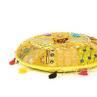 "17"" Yellow Decorative Seating Patchwork Floor Pillow Throw Cover Bohemian Indian"