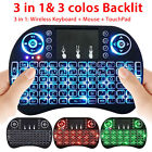 i8 Backlit Wireless Mini Keyboard Touchpad Air Mouse for Smart TV Android Box PC