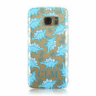 PERSONALISED DINO UNICORN INITIALS CASE COVER FOR SAMSUNG GALAXY MOBILE PHONES