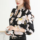 2017 Spring V-Neck Chiffon Blouse Slim Women Chiffon t shirt Office Work Tops