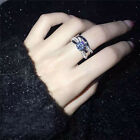 Size5~9 18K White Gold Filled Jewelry CZ Beautiful Lovers Rings For Wedding sets