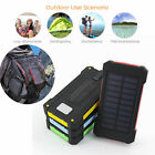 100000mah Solar Power Bank Portable External Battery Charger 7 Colors for Phone