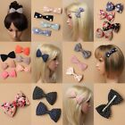 FABRIC BOW, CROCODILE, BEAK CLIP, POLKA DOT, FLOWER, GIRL, LADY, FASHION, DANCE