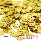 Cup Plastic Sequins 6 - 7 mm Gold 50 g, 30 g, 15 g 9123