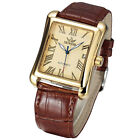 Classic Men's Date Display Leather Automatic Mechanical Steel Analog Watch