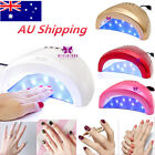 24W/48W UV Light Nail Lamp Gel Polish Manicure Art Curing Nail Dryer AU Shipping