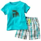 Carter's 2 Piece Shorts and T-Shirt Set ~ Size Newborn or 3 Months ~ NWT