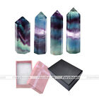1pc Tumbled Flourite Healing Point Home Ornament Decoration Collectible Gift Box