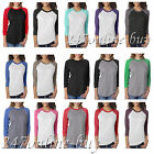 Next Level Premium 3/4 Sleeve Raglan Baseball T Shirt Tri Blend Tee XS-3XL 6051