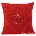 "16/20/24"" Red Mirror Embroidered Decorative Cushion Pillow Throw Cover Boho Bohe"