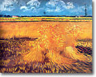 HUGE Van Gogh Wheat Field with Sheaves Stretched Canvas Giclee Repro ALL SIZES