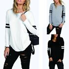 Women Ladies Casual Pullover Long Sleeve Loose Tops T-Shirt Blouse Fahison EN24H