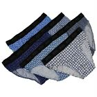 6 Pairs Mens Low-Rise Double Layer Front Band Bikini Briefs Underpants Pattern