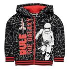 STAR WARS:2016 FULL ZIP HOODY 3/4,4/5,5/6,7/8,9/10,11/12yr,NEW WITH TAGS