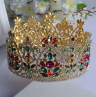 9cm High Large Crystal Wedding Bridal Party Pageant Prom Tiara Crown - 2 Colours
