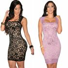 New Women Summer Sleeve Bodycon Casual Party Evening Cocktail Short Lace Dress