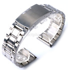 New Watch Band Womens Mem Buckle Silver Stainless Steel Watch Band Strap US