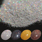 7g Holographic Laser Glitter Powder Nail Tips Shining Gold Silver Black Coffee