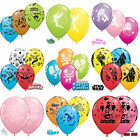 "DISNEY Licensed Character 11"" LATEX BALLOONS x 5 {Qualatex} (Birthday/Party)"