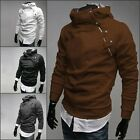 Fashion Men Casual Slim Pullover Hoodie Hooded Jackets Coat Sweater Outwear Lot