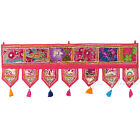 """40"""" Pink Window Door Valance Embroidered Tapestry Wall Hanging Bohemian Boho Ind"""