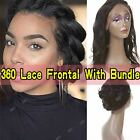 360 Lace Frontal Closure With Bundle Virgin Human Pre Plucked With Baby Hair HQ2