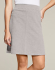 Women's Hanes Signature® French Terry Knit Skirt Gray or Black S or M
