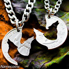 Wolf Necklace Howling Wolves Jewelry  Interlocking Puzzle set  Made from a Hand