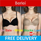 Berlei Push Up Bra Sexy Fabulous Fit Boost Plunge Padded Underwire Nude Black