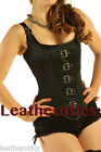 Black Satin Corset Overbust Buckled Dragoncon 1248