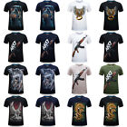 New Men's 3D Print Short Sleeve Tops Casual Cotton T-Shirt Graphic Tee Shirts