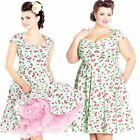 Hell Bunny April Cherry Dress Rockabilly Pin Up Retro 40s 50s Vintage Summer