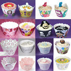 CUPCAKES WRAPS Wrappers LACE PRINTED LASER CUT PIRATE PRINCESS BABY SHOWER CASES