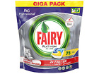 Fairy Platinum All in One Dishwasher Tablets Lemon Capsules - Choose Pack Size