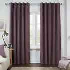 Julian Charles Dante Mauve Luxury Soft Chenille Lined Eyelet Curtains (Pair)