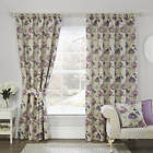 Julian Charles Corsica Grape Luxury Lined Pencil Pleat Curtains (Pair)