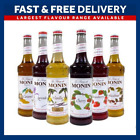 New Monin Coffee Cocktail Syrups 70cl Glass Bottle Flavours & Pourer Available