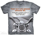 The Mountain 104913 Motorcycle Outdoor Adult Unisex Short Sleeve T-shirt Gray