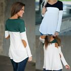 Fashion Women's Ladies Long Sleeve Shirt Casual Blouse Loose Cotton Tops T-Shirt