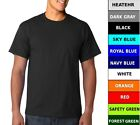 Men's Cotton Pocket Short Sleeve T Shirt Plain Blank Solid image