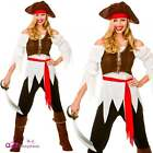 Womens Pirate Shipmate Adult Ladies Fancy Dress Costume Buccaneer Sizes UK 10-24