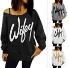 Style women's European and American letters new printed sweater with
