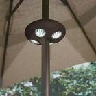 Garden Patio Umbrella Cordless Camping Night Table LED White UFO Light Outdoor