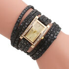 Rectangle Dial Analog Quartz Brecelet Watch Women Leather Band Wrist Watches