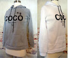Hoodie Gray or White Inspired by Coco No9 size Lg CLEARANCE last one