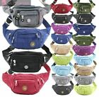 NEW WOMENS CANVAS MULTIPLE POCKETS HOLIDAY FESTIVAL BUM BAG FANNY PACK